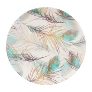 Bamboo Fibre Feather 8 Inch Plate