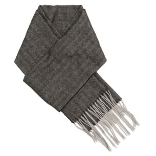 Grey Striped Men's Scarf
