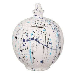 Black & Blue Splatter Money Pot