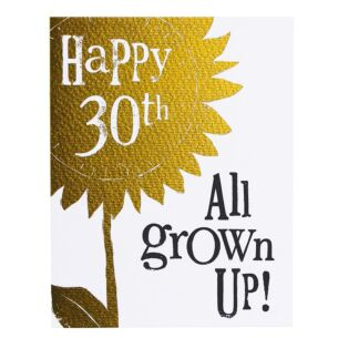 'Happy 30th All Grown Up' Birthday Card