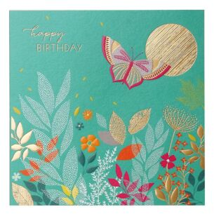 Sunshine Butterfly Birthday Card