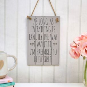 'As Long As Everything' Slatted Sign