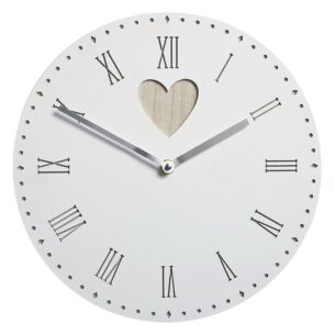 Vintage Wall Clock with Heart Detail