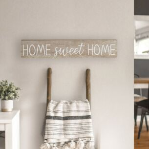 'Home Sweet Home' Wooden Sign Transomnia