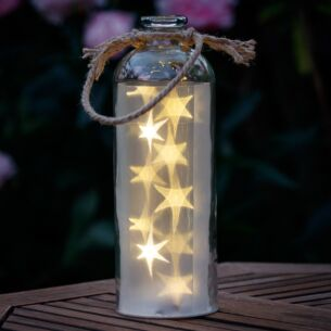 Giant LED Stars in a Clear Bottle