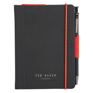 A6 Black Brogue Geo Notebook with Pen