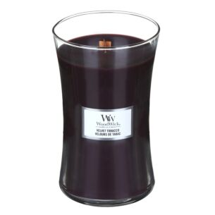 Velvet Tobacco Large Hourglass Candle