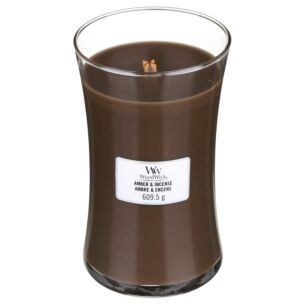 Amber & Incense Large Hourglass Candle