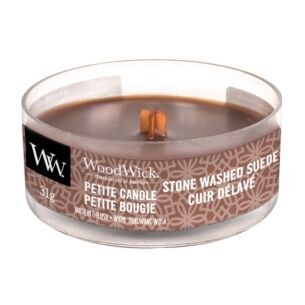 Stone Washed Suede Petite Candle
