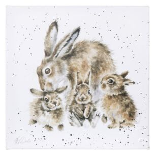 'Furever and Always' Rabbit Large Canvas