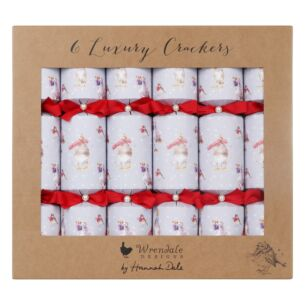 Christmas Scarves Set of 6 Luxury Christmas Crackers