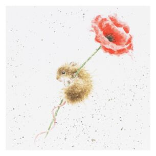 'Poppy' Mouse Card