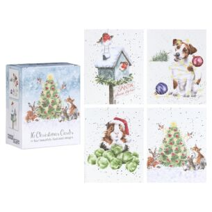 'Hare' Set of 16 Mini Charity Christmas Cards