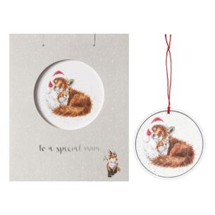 'Special Mum' Christmas Card with Tree Decoration
