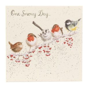'One Snowy Day' Bird Christmas Card