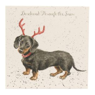 'Dachshund Through The Snow' Dog Christmas Card