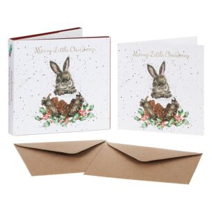 'Merry Little Christmas' Set of 8 Luxury Gold Foiled Christmas Cards