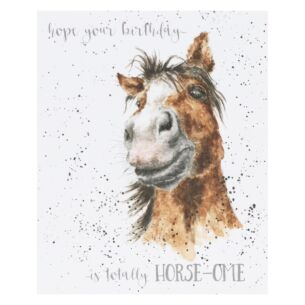 'Totally Horse-ome' Horse Birthday Card