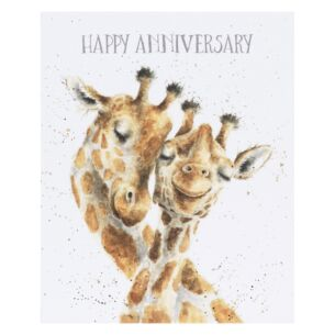 'Be-long Together' Giraffe Anniversary Card