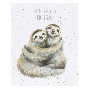 'Little Card, Big Hug' Sloth Card