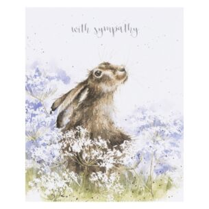'Here For You' Hare Sympathy Card