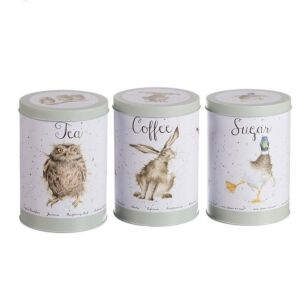 The Country Set Tea, Coffee & Sugar Canisters
