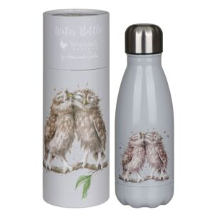 'Birds Of A Feather' Owl 260ml Water Bottle