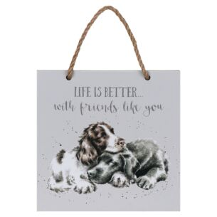 'Life is Better' Dogs Wooden Plaque