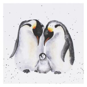 'The Emperor's New Chick' Penguin Card