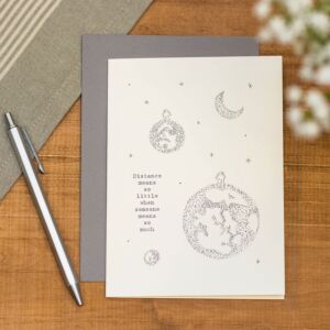'Distance Means Out Of This World' Card