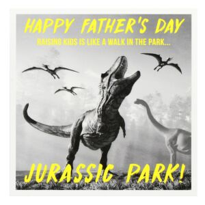 Pixel 'Jurassic Park' Father's Day Card