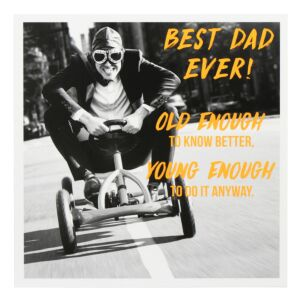 Pixel 'Old Enough' Father's Day Card