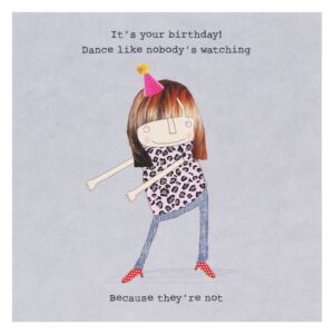 Rosie Made A Thing 'Nobody's Watching' Lockdown Birthday Card